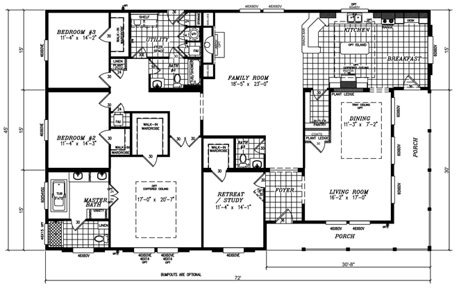 View Our Triple Wide American Modular Homes Tyler Tx Mobile Home Floor Plans Manufactured Homes Floor Plans Triple Wide Mobile Homes