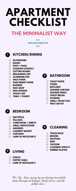 Things You Need For Your First Apartment Budget