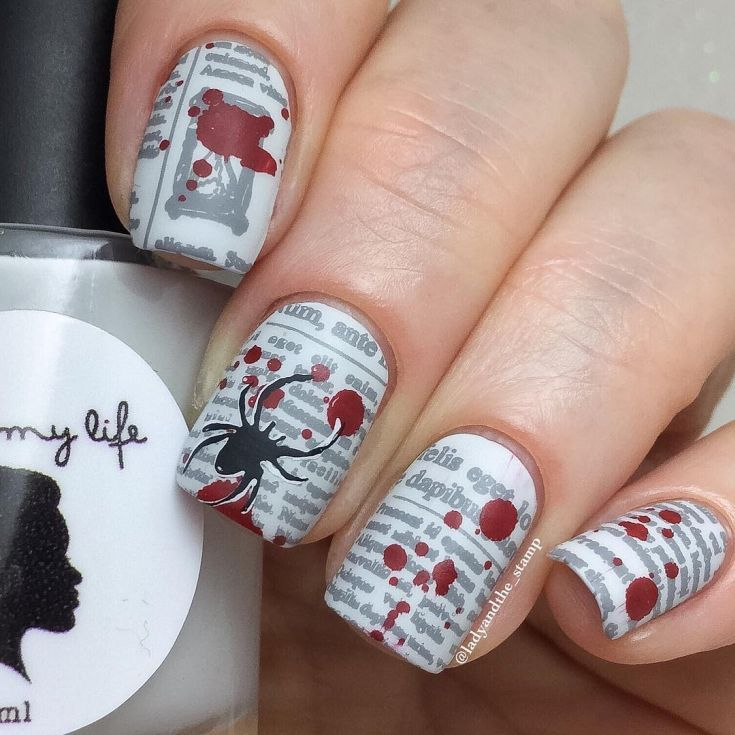 25 best nail art with newspaper print | Newspaper printing ...