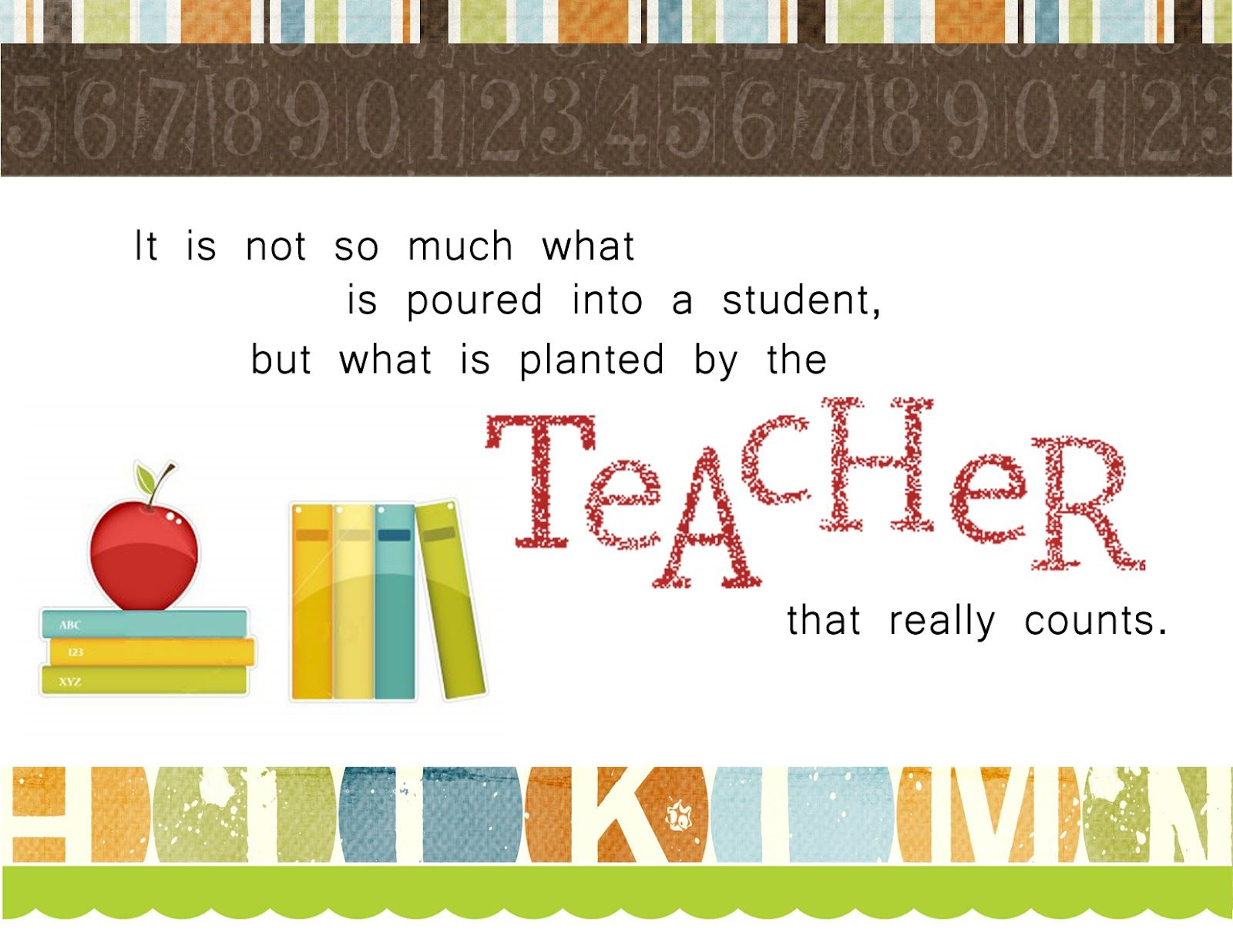 To All The Wonderful Teachers In The World Hats Off To You