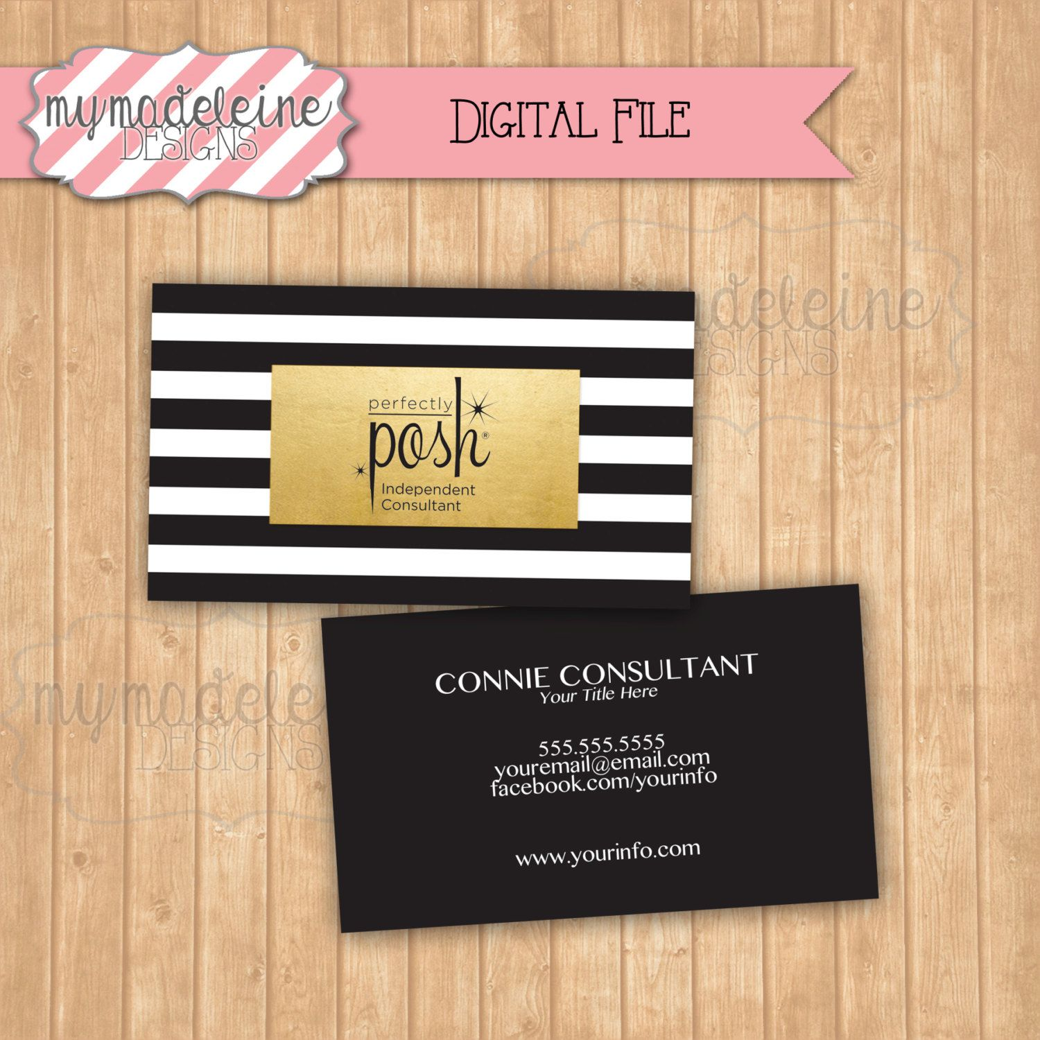 Perfectly posh business card marketing materials direct sales perfectly posh business card marketing materials direct sales digital file printable black and gold by mymadeleine magicingreecefo Choice Image