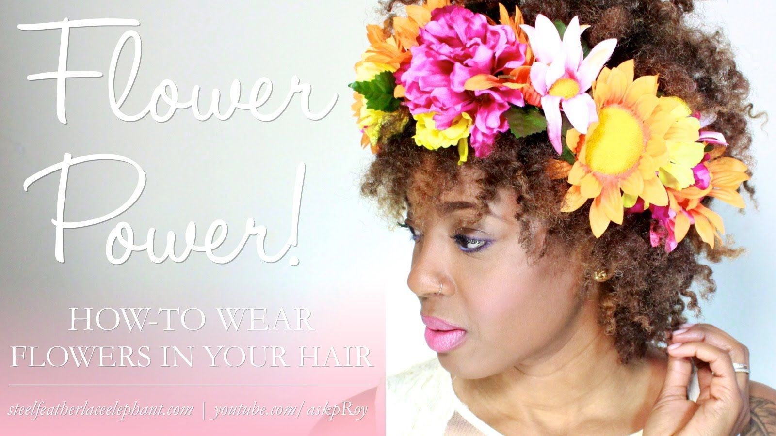 12 Ways to Wear Flowers In Your Natural Hair! [12cHairChick Vlogger