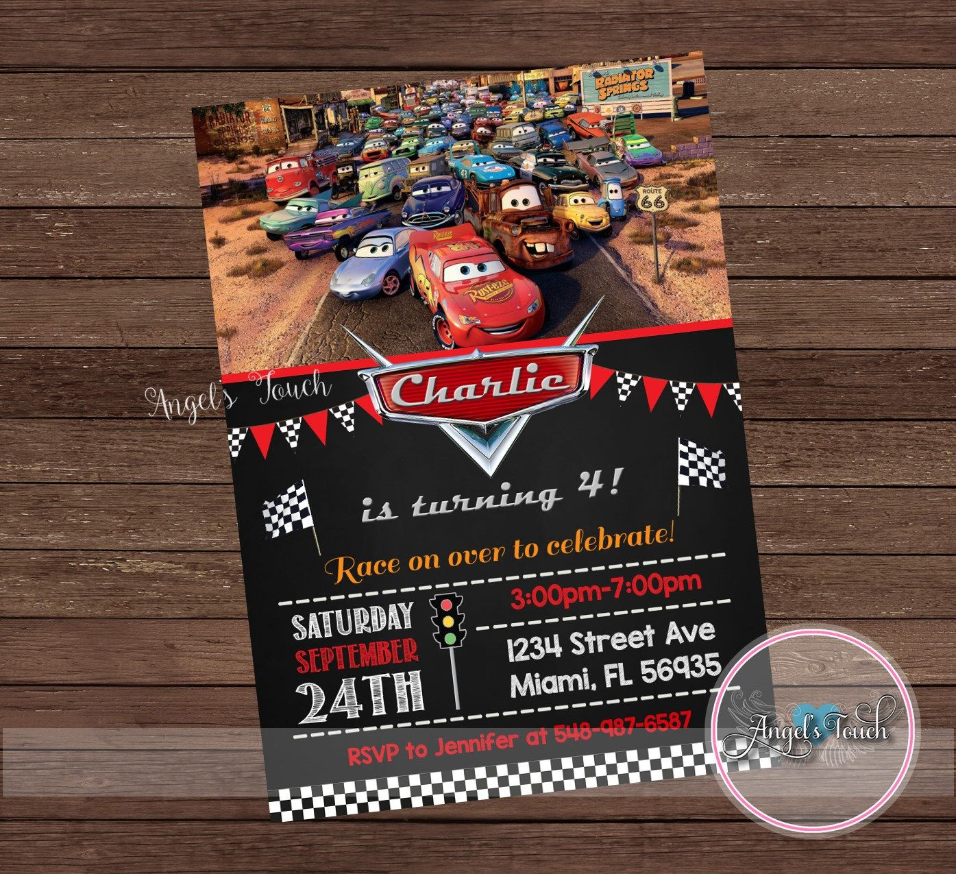 Cars Party Invitation Cars Birthday Invitation Cars Birthday ...