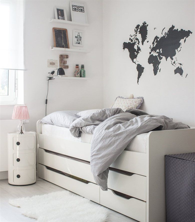 At home in Germany | blogger Anja\'s bright bedroom | live from IKEA ...