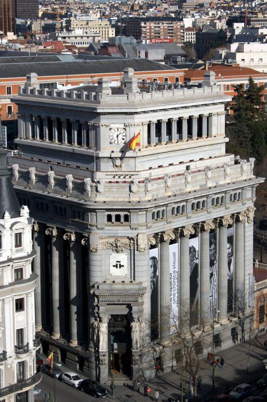 Madrid Desde La Azotea Del Círculo De Bellas Artes Madrid