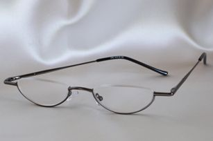 Can Half Frame Glasses Be Repaired : Half moon shaped, semi rimless reading glasses by Daniel ...