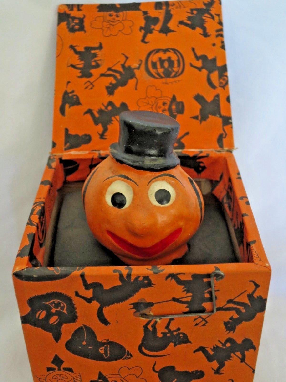 Near Mint Vintage JackInTheBox Halloween Veggie Man Toy