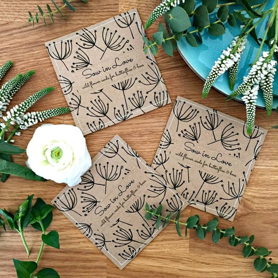 Doing Your Own Flowers For A Wedding: Wedding Wildflower Seed Packet Favors With 'Seed Head