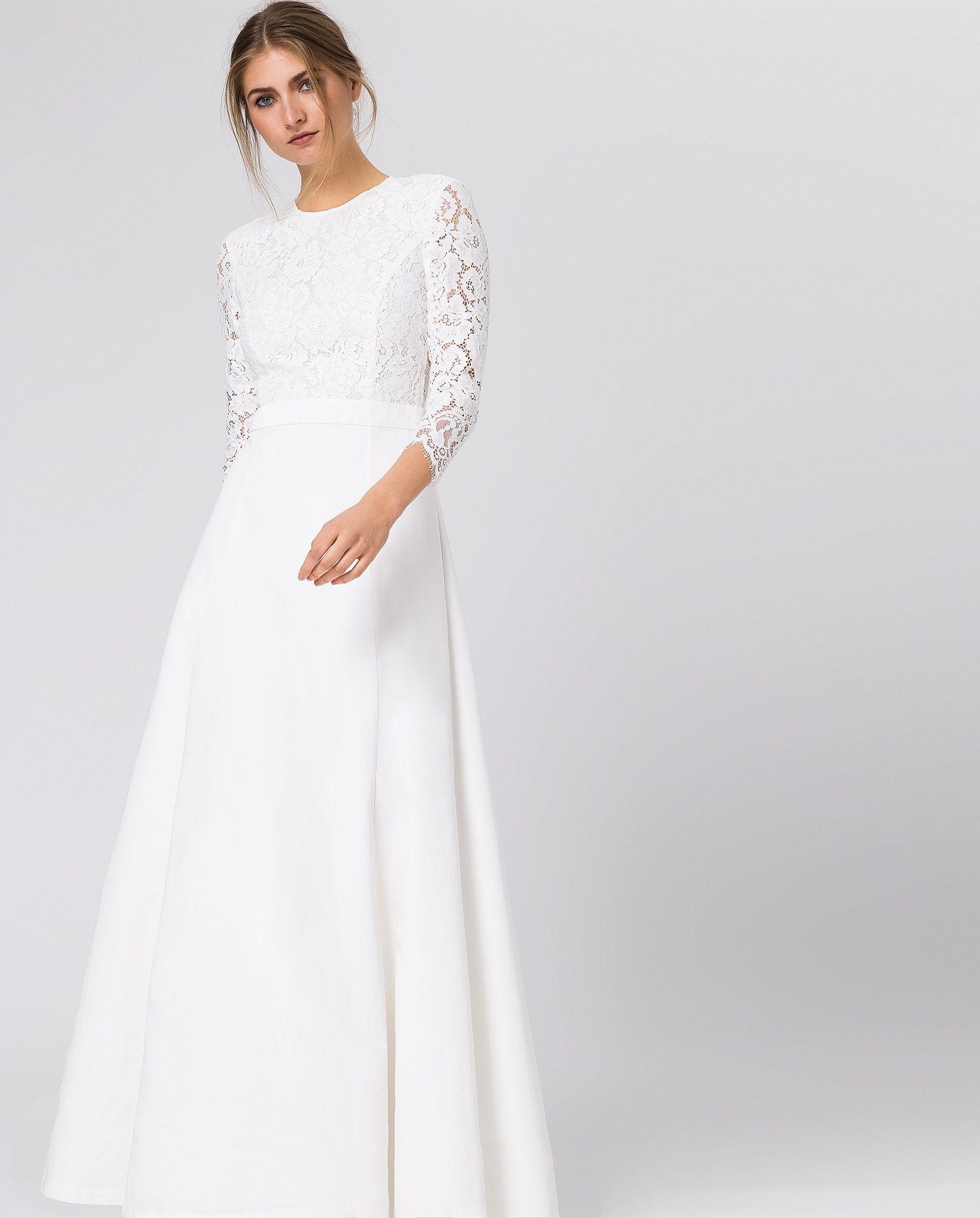 Bridal Sleeve Dress 122-in-12 - Snow White - IVY & OAK  Kleid