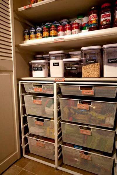 40 buenas ideas para organizar y ordenar la cocina ideas - Cajoneras pequenas ...