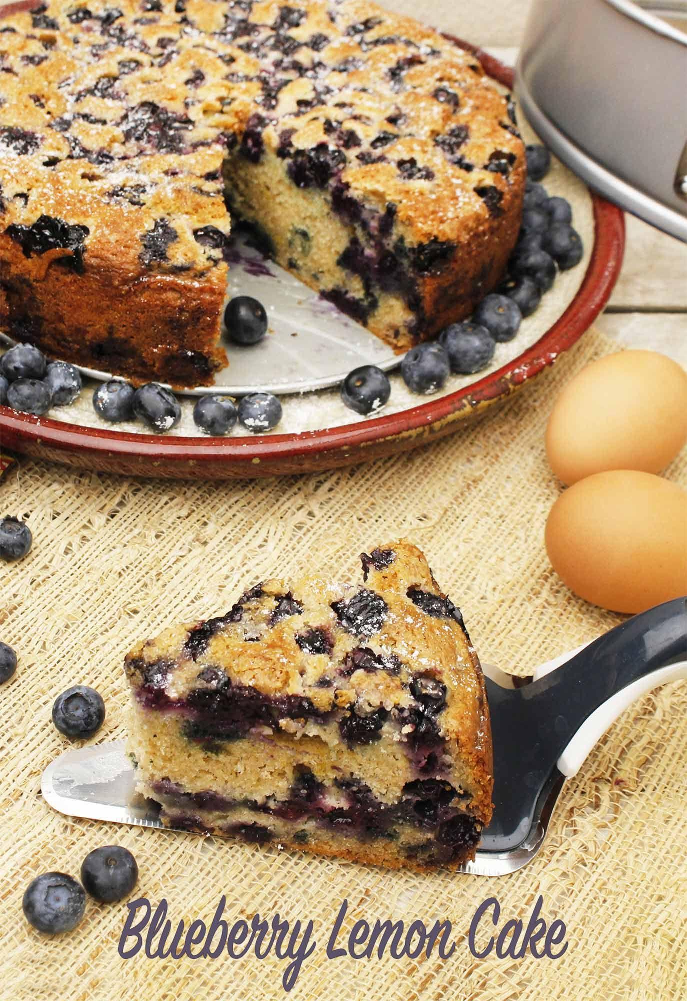 Blueberry lemon cake recipe baking recipes non