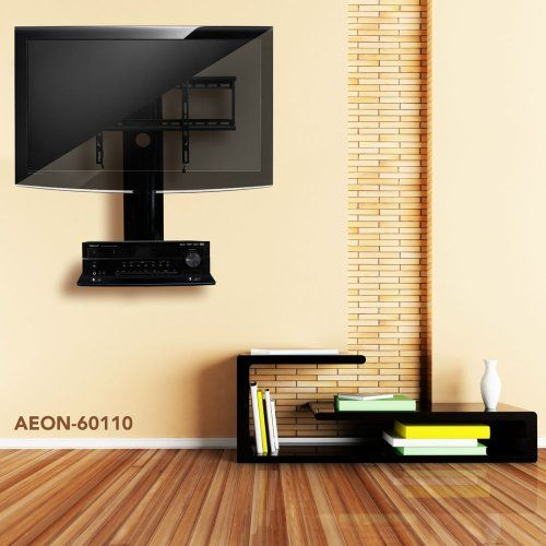 Swiveling TV Wall Mount with Shelf (Shelves)   Fierce Fireplace ...