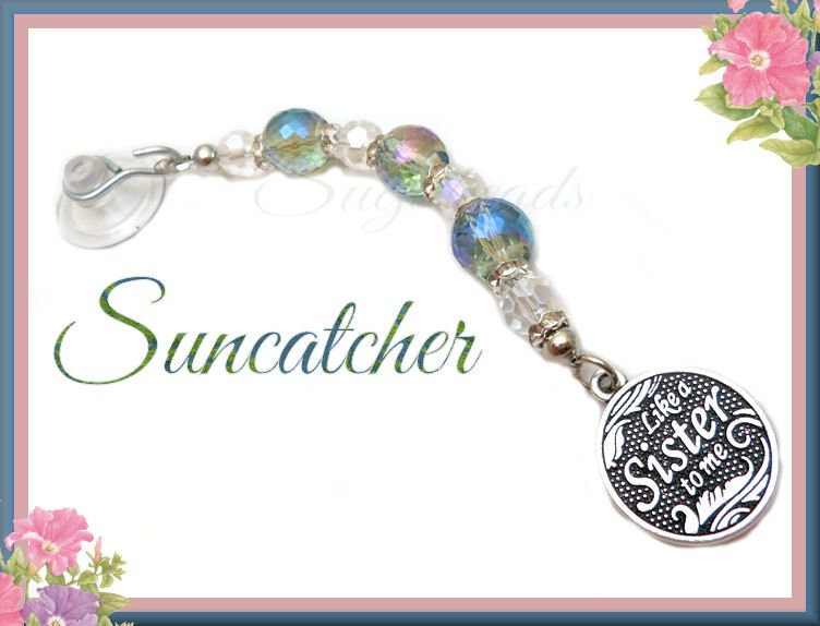 Another cute and simply made gift idea!  Crystal ideas: https://www.etsy.com/shop/sugabeads/search?search_query=crystal+beads&order=date_desc&view_type=gallery&ref=shop_search  Like a sister charm: https://www.etsy.com/listing/254938826/3-antiqued-silver-charms-like-a-sister?ref=shop_home_active_1&ga_search_query=like%2Ba%2Bsister
