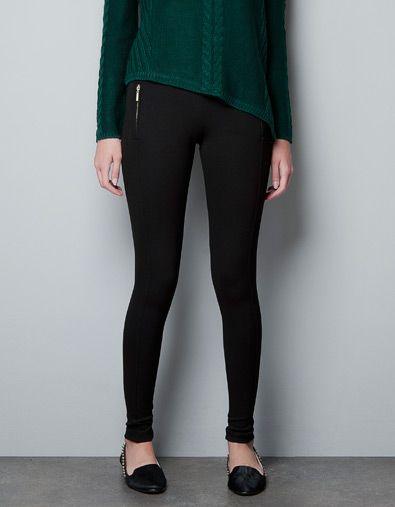 LEGGING CREMALLERAS - Pantalones - Mujer - ZARA