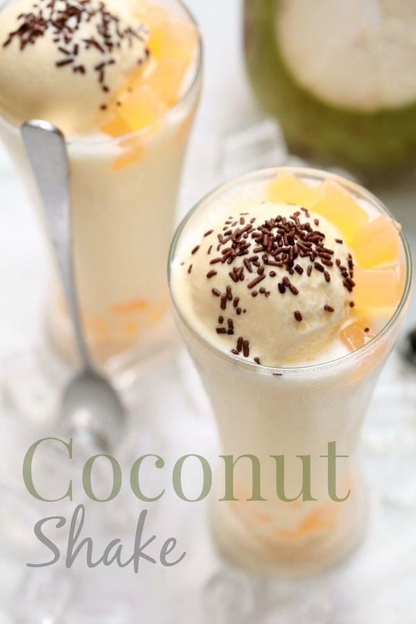 Waaaa Sedapnya Lah Bila Dapat Menikmati Segelas Coconut Shake Lebih Lebih Lagi Bila Cuaca Hangat Dan Panas Membara Sebe Ide Makanan Makanan Resep Minuman