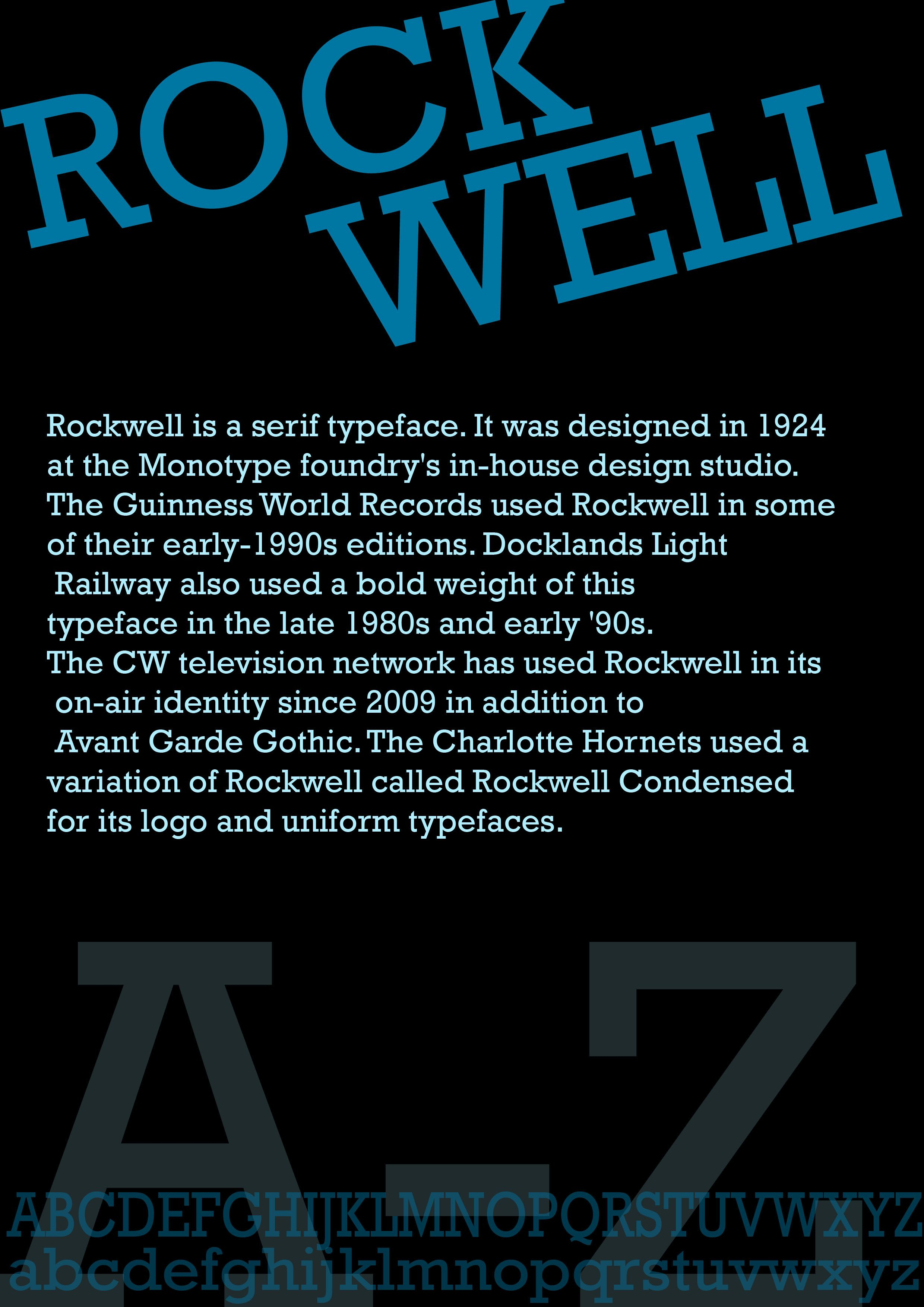 Original Rockwell typography poster