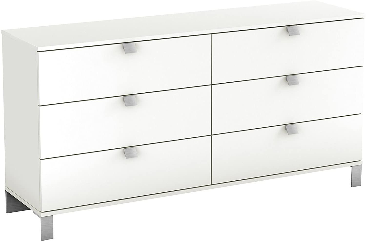 South Shore Spark 6 Drawer Double Dresser Pure White Home Kitchen Furniture Bedroom Furniture Dressers Furnitu Dresser Drawers Dresser White Dresser [ 990 x 1500 Pixel ]