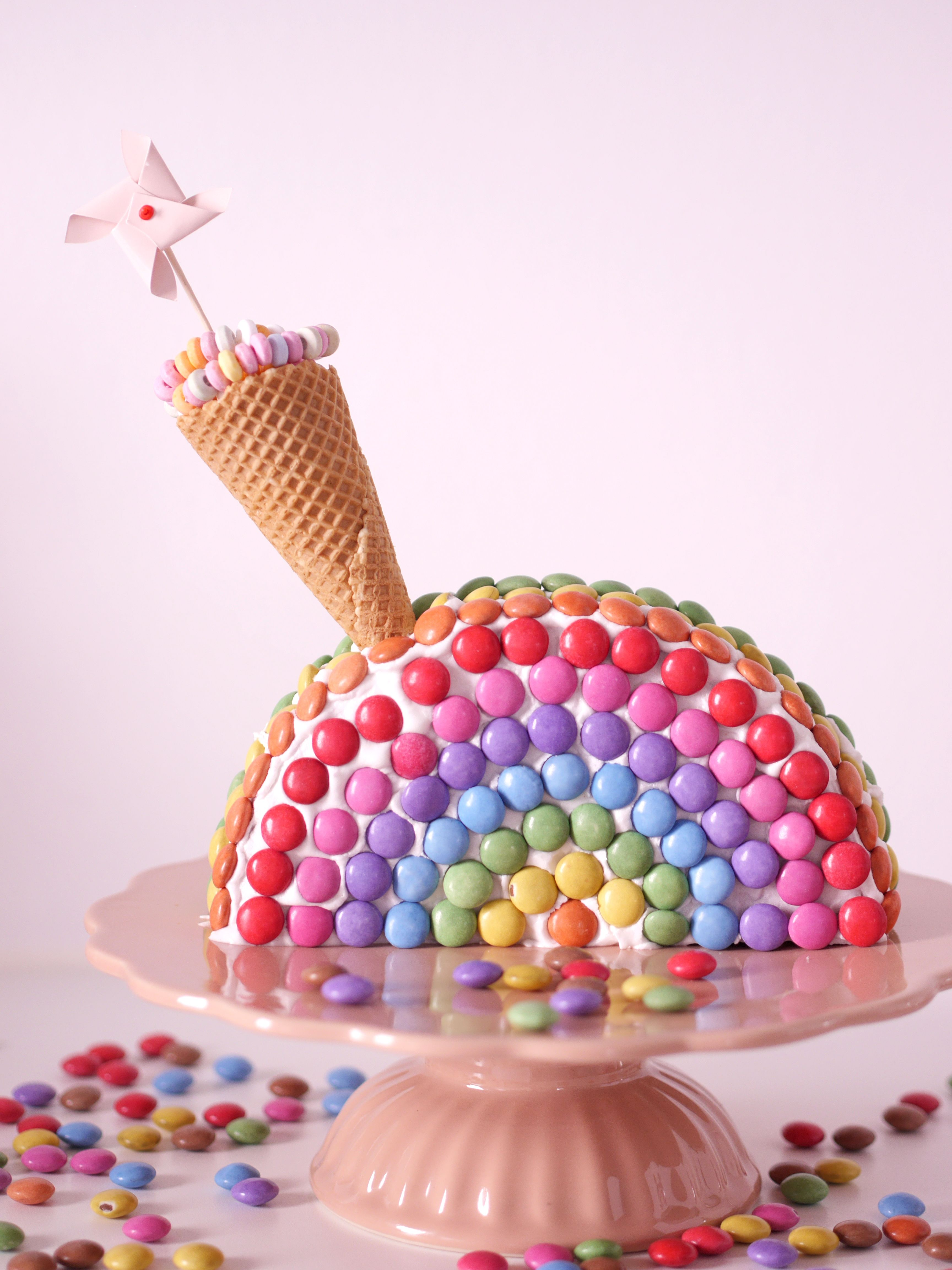 MiniMenschlein Regenbogenkuchen zur Einschulung