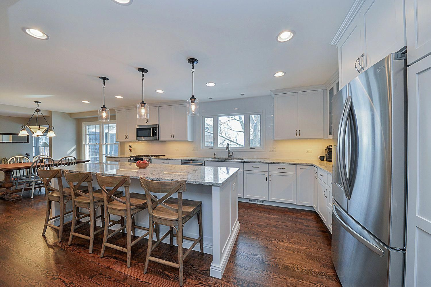 Kitchen remodeling ideas white cabinetry white quartz aurora