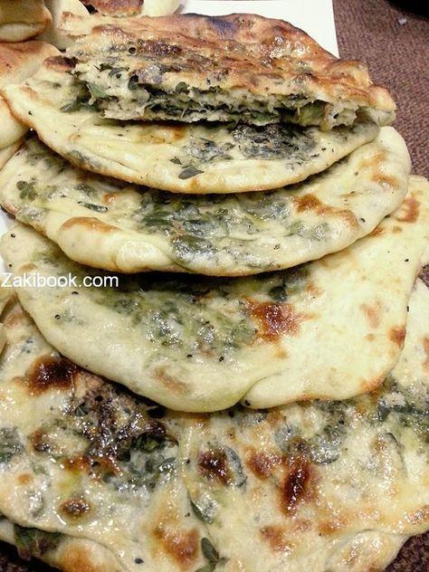 طريقه مطبق الزعتر اﻻخضر زاكي Palestinian Food Palestine Food Food