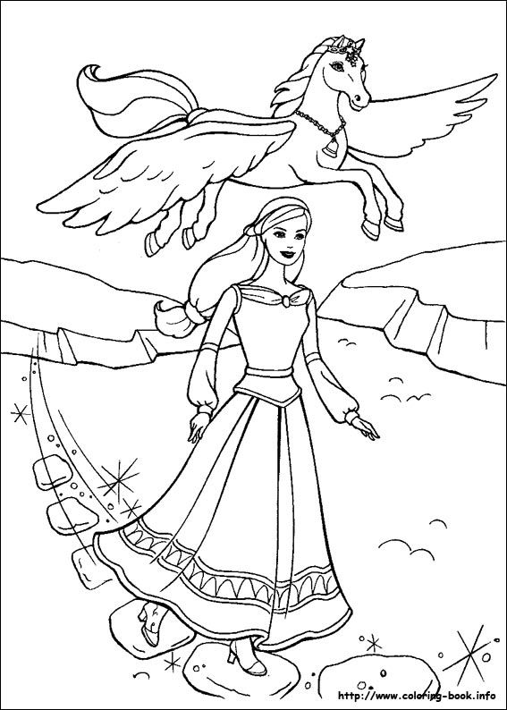 Annika And Brietta Coloring Page From Barbie The Magic Of Pegasus