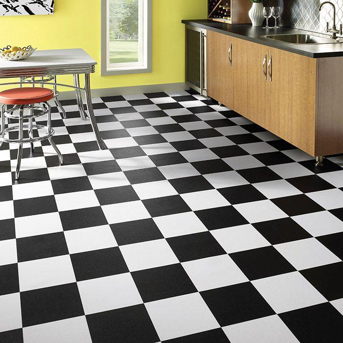 Finish Line by Mannington a 9 blackandwhite checkerboard