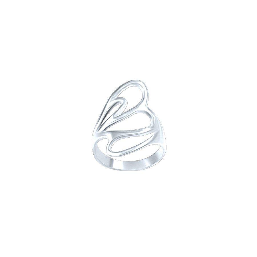 Gems World Bague Femme en argent  925/1000 motif élégant.