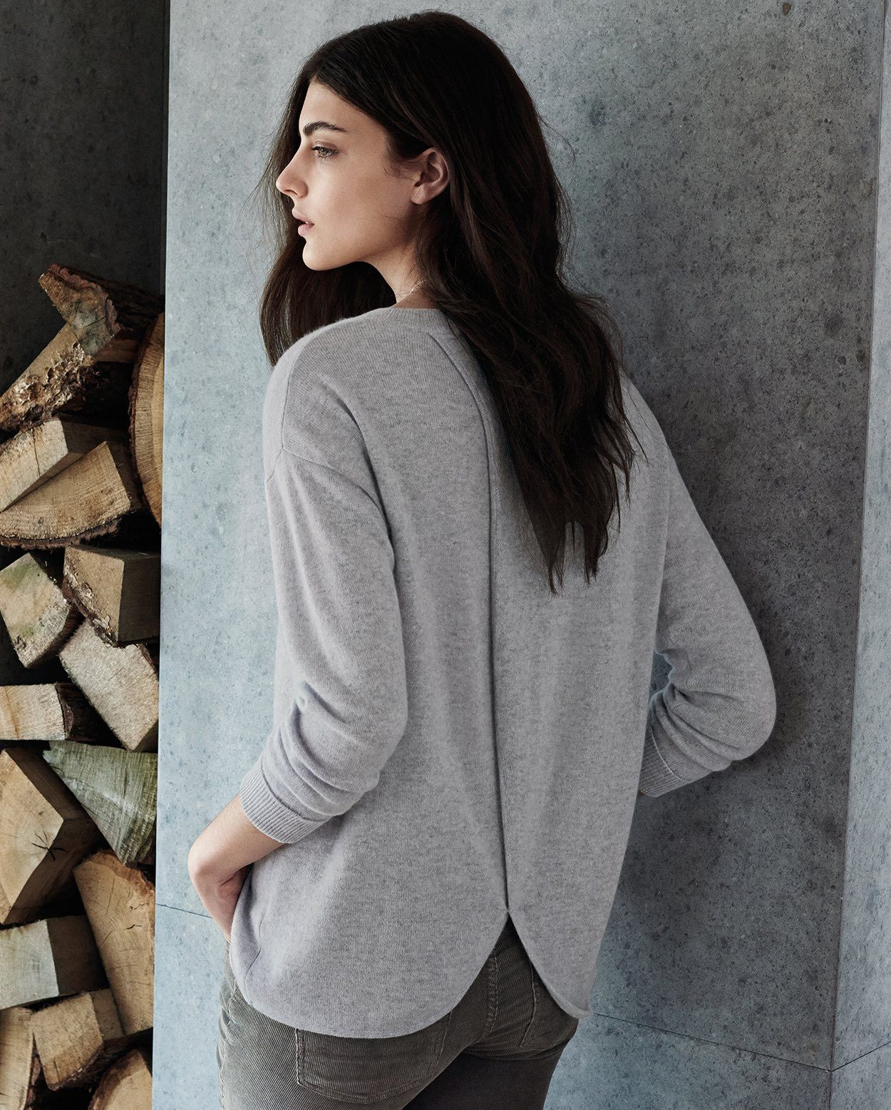 Poetry - Cashmere sweater with cross-back detail | Fantastic ...