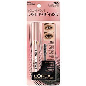 2c3c2ecdead Voluminous Lash Paradise voluptuous volume and indulgent lengthening mascara  by L'Oréal Paris. Soft wavy brush has 200+ bristles for a full feathery  effect.