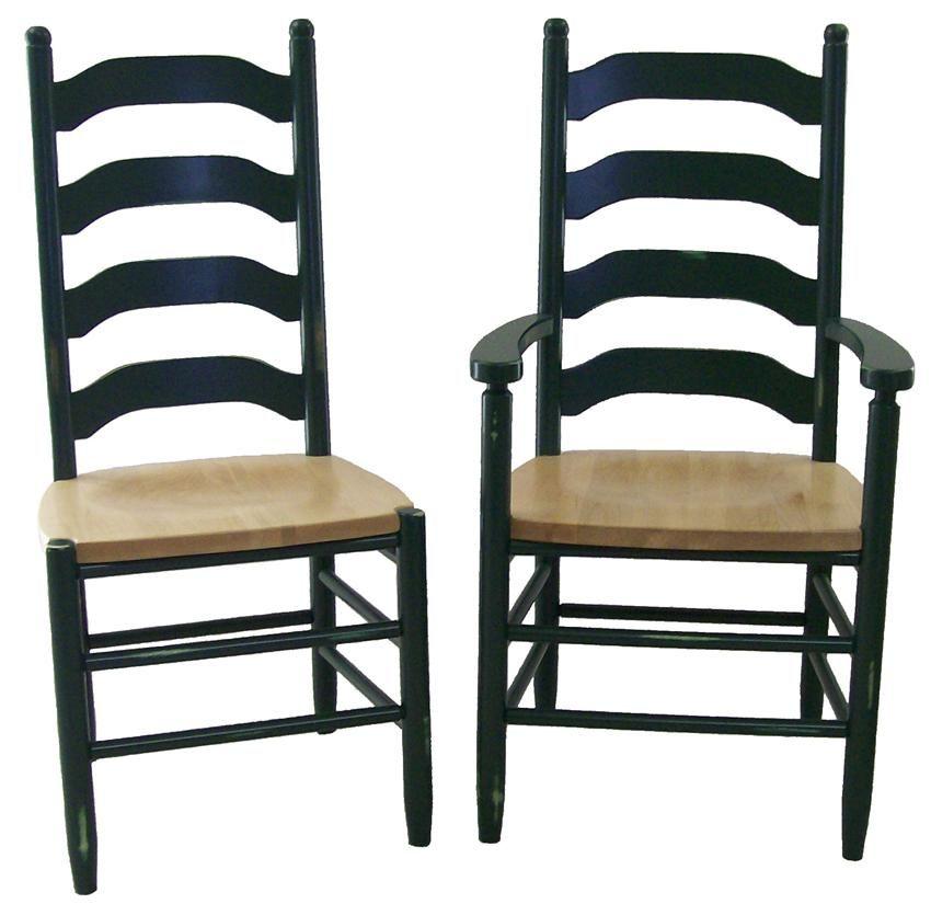 Amish Furniture La Fleur Ladderback Dining Room Chair