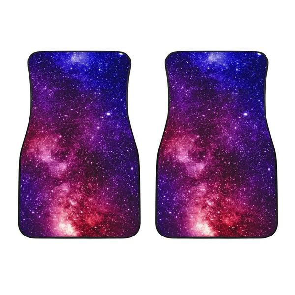Blue Purple Stardust Galaxy Space Print Front Car Floor