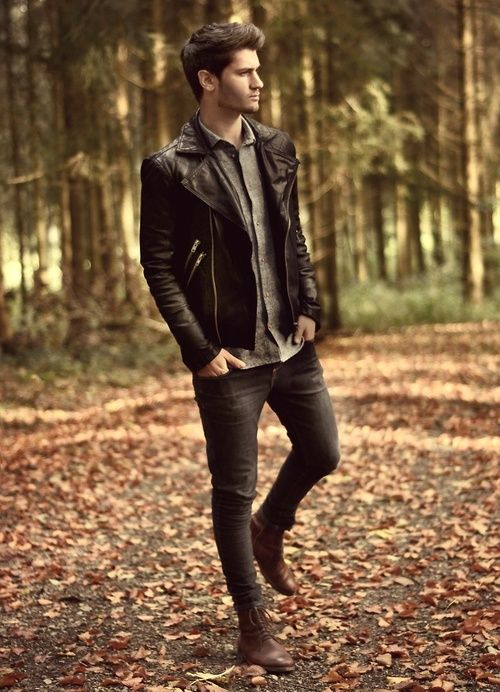 Fall layers #leather #boots #menswear