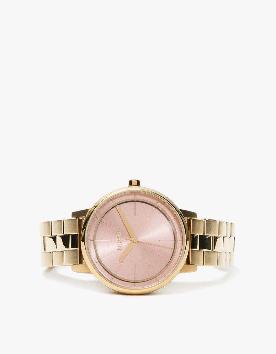 952eaf32986ed Nixon   Kensington in Light Gold Pink