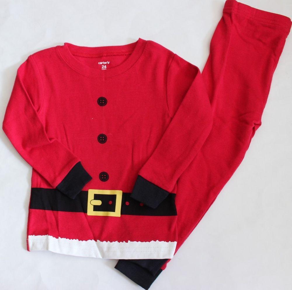 0927924afdb13 Carter's 24 M Pajamas Santa Christmas Top Tee Pants 2 Pc Boy's NWT  Sleepwear #fashion #clothing #shoes #accessories #babytoddlerclothing ...