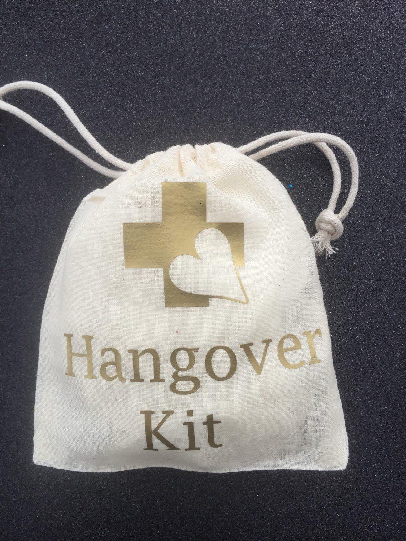10 Classy Gold hangover kits, wedding favors, Gold hangover kits ...