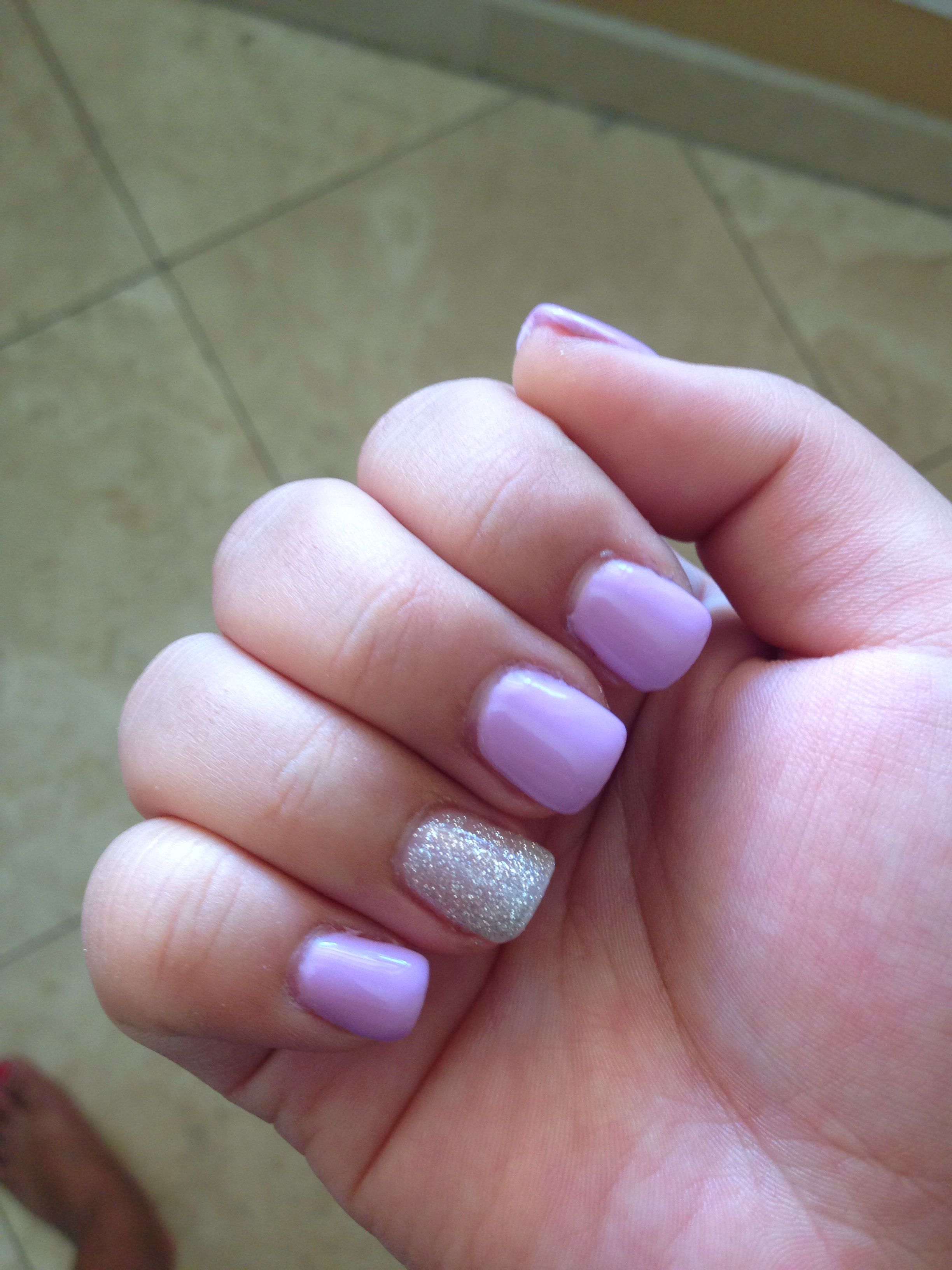 light purple and glittery silver gel colors. | nails | pinterest