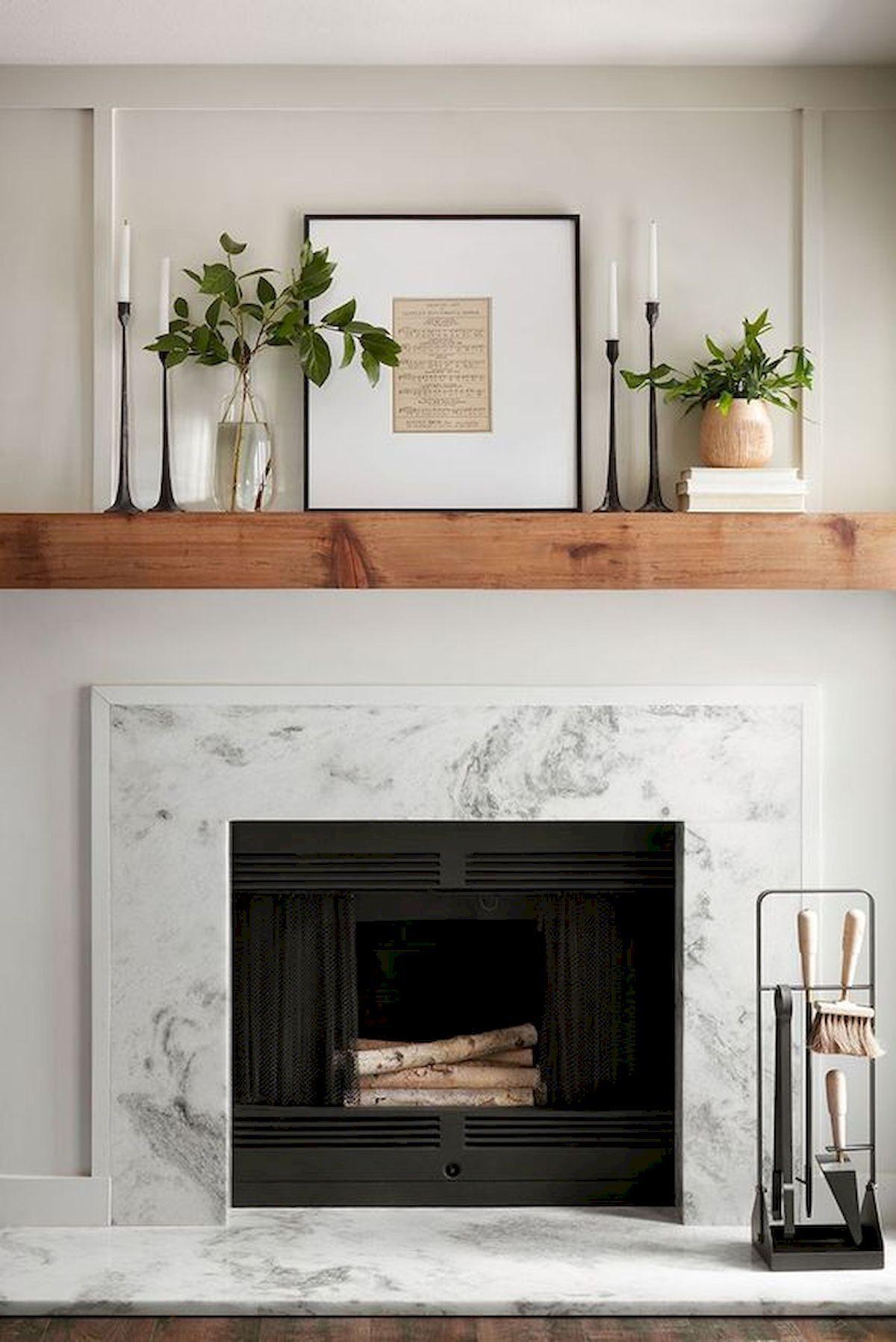 Modern Farmhouse Mantle Decor   Modern Farmhouse Fireplace Design ...