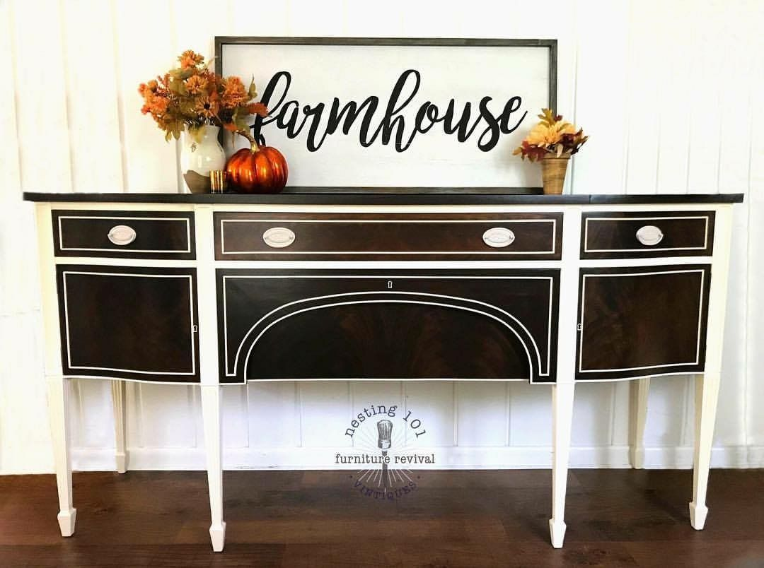 Vintage u buffet restored and restyled painted furniture