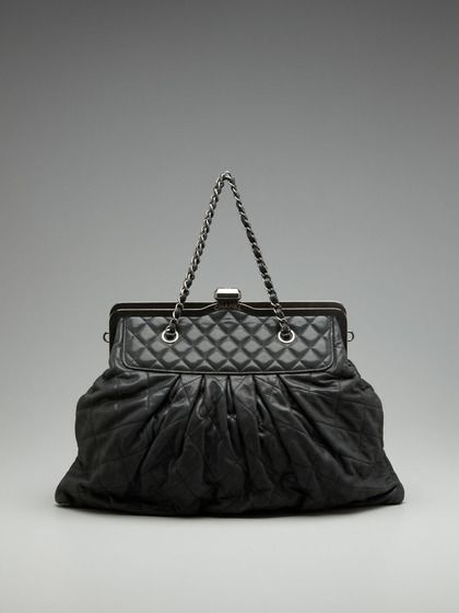 38a71373c340 Chanel Metallic Suede Gathered Frame Shoulder Bag by Vintage Handbags and  Jewelry on Gilt