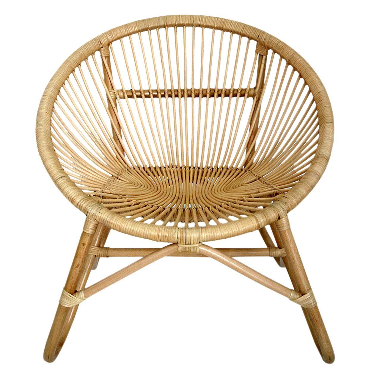 Round Rattan Chair W Metal Legs K D 31x27 8x31 8 Occasional Seating Rattan Chair Chair