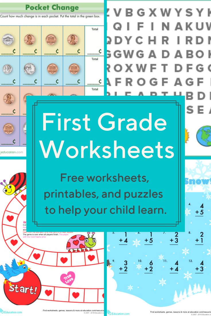 small resolution of First Grade Worksheets   Download free printable worksheets for reading