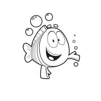 Moderno Guppies De Burbujas Gratis Para Colorear Motivo - Páginas ...