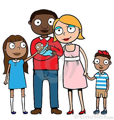 mixed family clip art cartoon vector illustration of a caucasian rh pinterest com black family clip art images black church family clipart