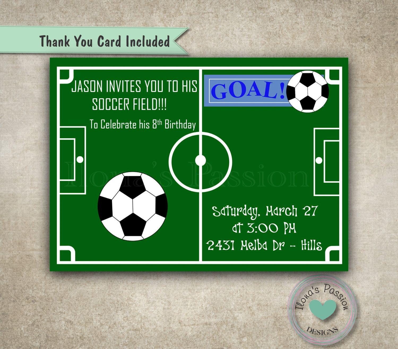 Soccer Invitation - Soccer Birthday Invitation - Printable ...