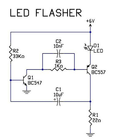 LEDFlasherCircuit‬ is an electrical circuit used to power