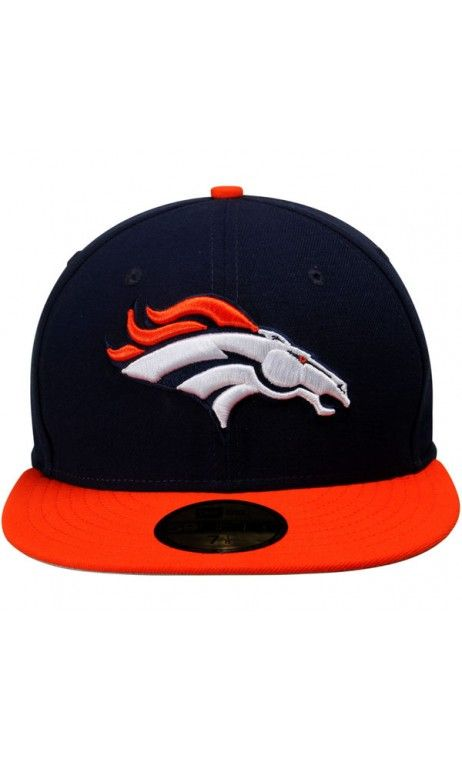 781b172ab NFL New Era #Denver #Broncos Two-Tone 59FIFTY Fitted #Hat - Navy Blue/Orange