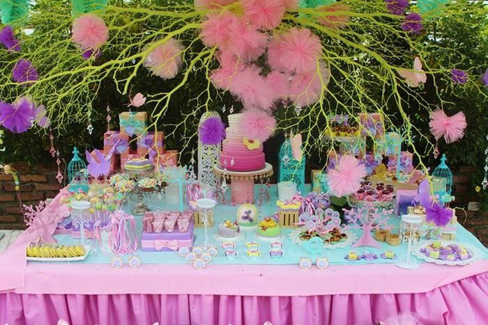 Secret Garden: Pastel Butterfly Garden Party Planning Ideas Supplies Idea