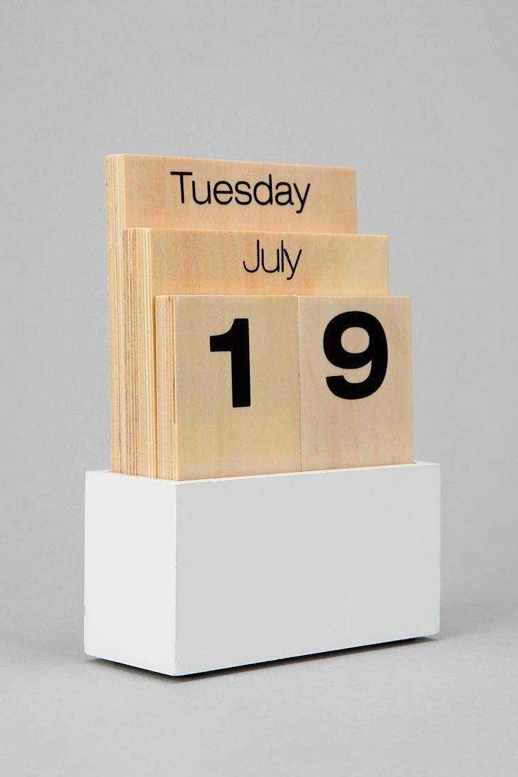 Wood Shuffle Desktop Calendar  #UrbanOutfitters