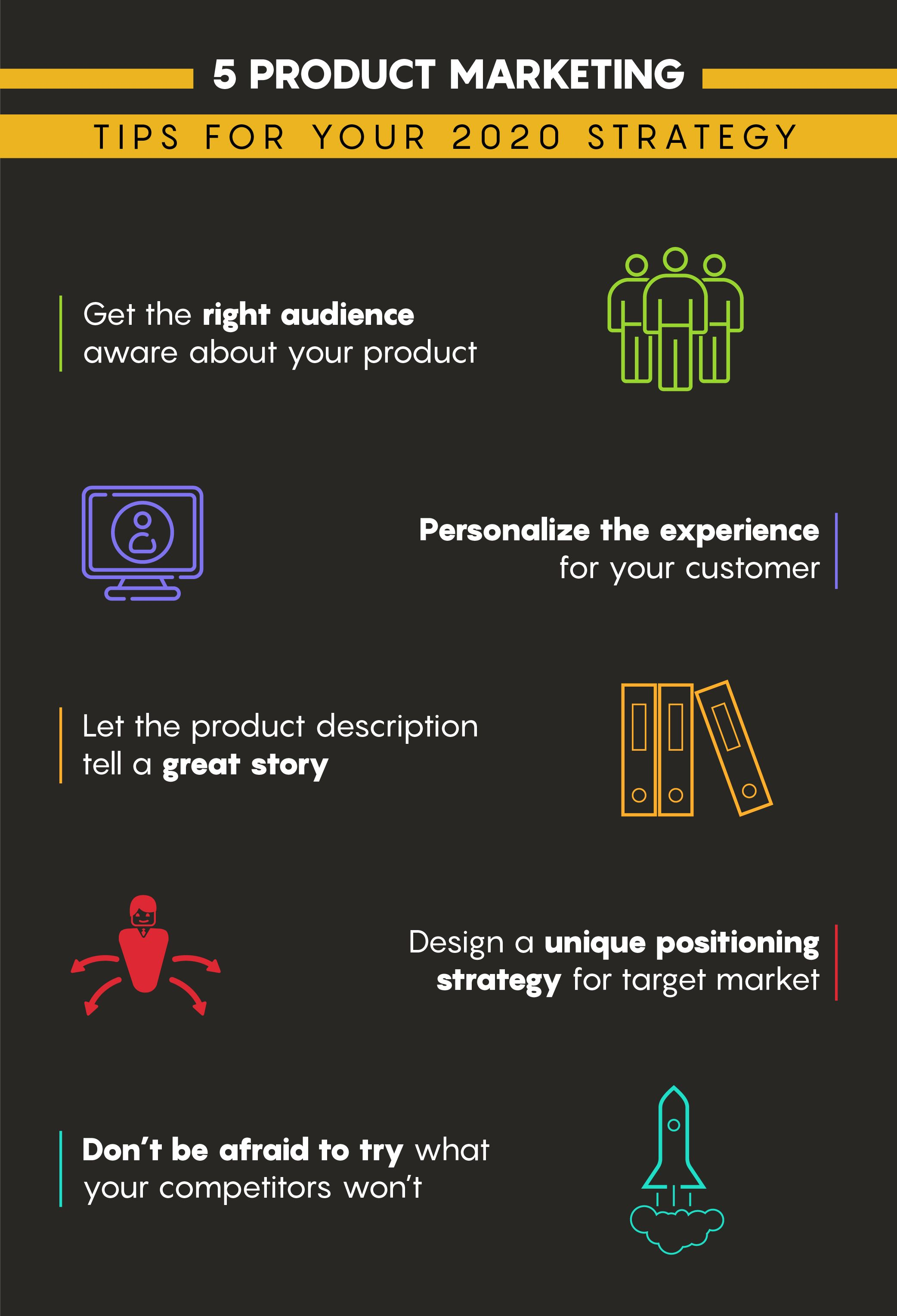 5 Product Marketing Tips For Your 2020 Strategy Business Infographic Vp Marketing Marketing Company