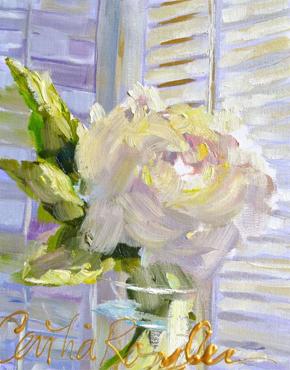 White Rose By Cecilia Rosslee Art Pinterest